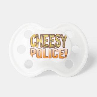 警察の青い安っぽい おしゃぶり