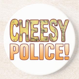 警察の青い安っぽい コースター