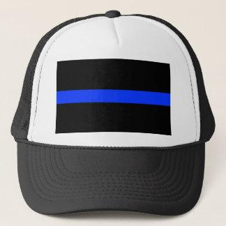 警察の青く薄いライン キャップ