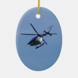 警察のMesserschmittのスペインのなヘリコプター セラミックオーナメント