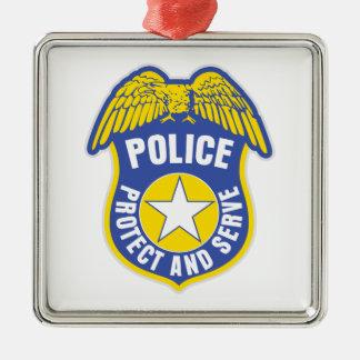警察はバッジを保護し、機能します メタルオーナメント
