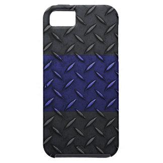 警察はブルーラインダイヤモンドのプレートのデザインを薄くします iPhone SE/5/5s ケース