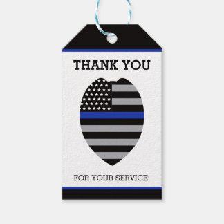 警察はラベル、薄いブルーライン感謝していしています ギフトタグ