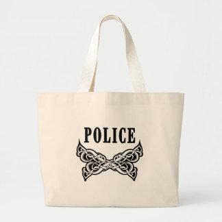 警察は入れ墨します ラージトートバッグ
