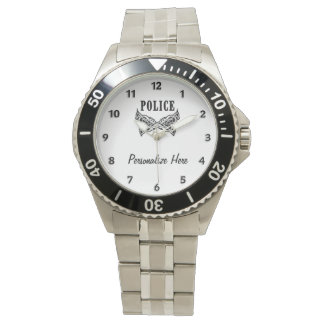 警察は入れ墨します 腕時計