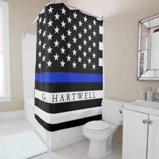 警察は米国旗の名前をカスタムするのスタイルを作りました シャワーカーテン