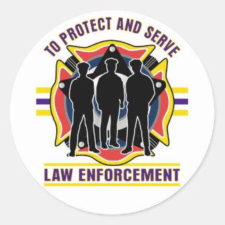 警察を保護し、役立って下さい ラウンドシール