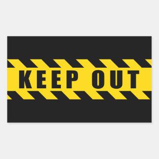 警察を危険にさらしますテープ黒い黄色のストライプを保って下さい 長方形シール