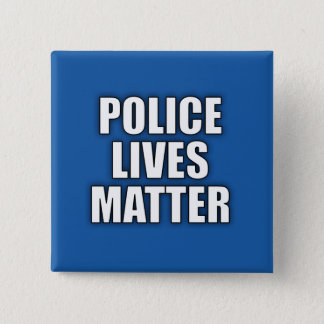 """""""警察問題住んでいます""""は 5.1CM 正方形バッジ"""