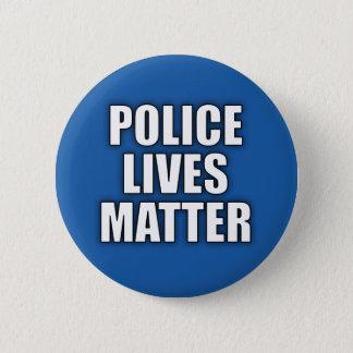 """""""警察問題""""の2.25インチ住んでいます 5.7CM 丸型バッジ"""