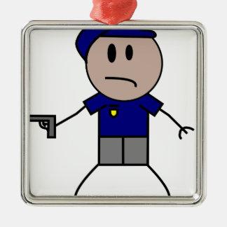 警察官156053.png メタルオーナメント