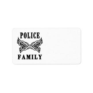 警察家族の入れ墨 ラベル