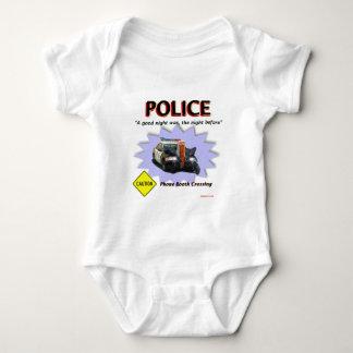 警察悪い夜パトロール ベビーボディスーツ