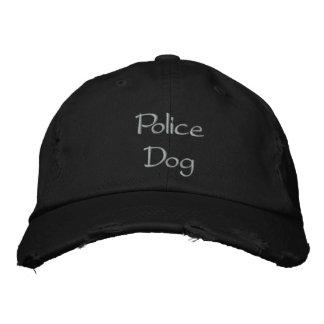 警察犬の刺繍された野球帽 刺繍入り帽子