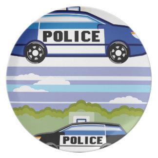 警察用車両 プレート