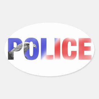 警察2 楕円形シール