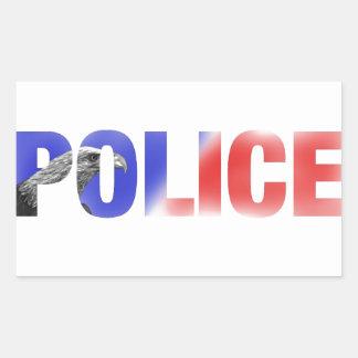 警察2 長方形シール