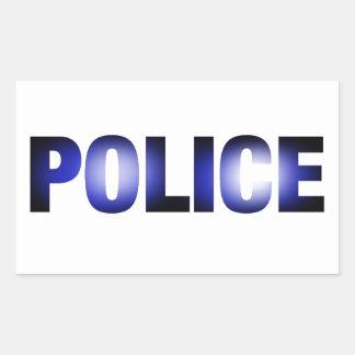 警察3 長方形シール