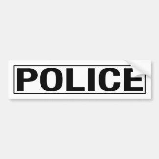 """""""警察"""" バンパーステッカー"""