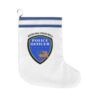 警察 ラージクリスマスストッキング