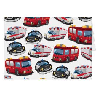 警察、救急車および消防機関の輸送 カード