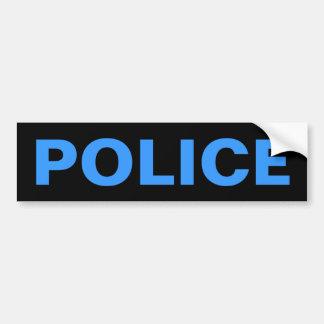 警察-青いロゴの紋章 バンパーステッカー