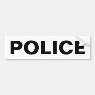 警察-黒いロゴの紋章 バンパーステッカー