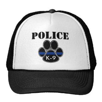警察K-9はブルーライントラック運転手の帽子を薄くします ハット