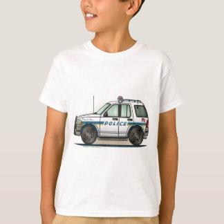 警察SUVの巡洋艦車の警察官車はTシャツをからかいます Tシャツ