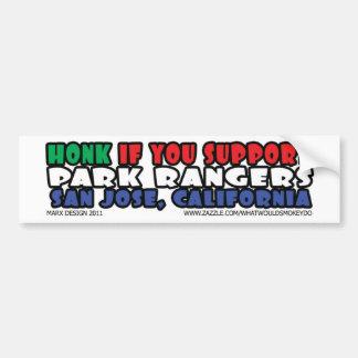 警笛の音サポート公園管理者 バンパーステッカー