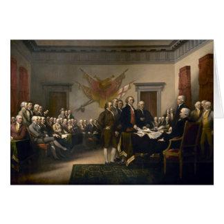 議会に示される独立宣言 カード