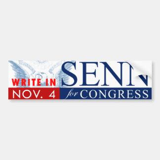 議会のためのSENN: バンパーステッカー