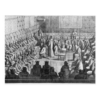 議会の会議は理事によって司会しました ポストカード