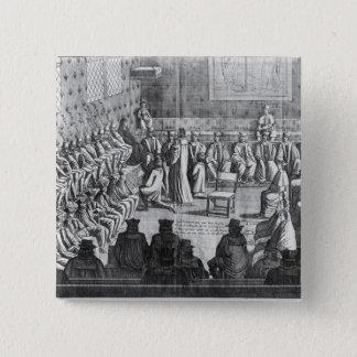 議会の会議は理事によって司会しました 5.1CM 正方形バッジ