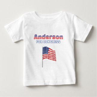 議会の愛国心が強い米国旗のためのアンダーソン ベビーTシャツ