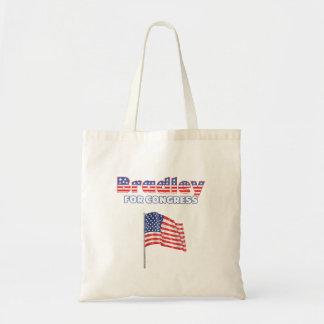 議会の愛国心が強い米国旗のためのブラッドリー トートバッグ