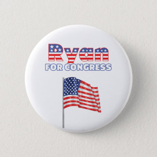 議会の愛国心が強い米国旗のためのライアン 5.7CM 丸型バッジ
