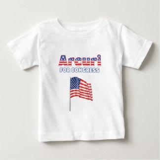 議会の愛国心が強い米国旗のためのArcuri ベビーTシャツ