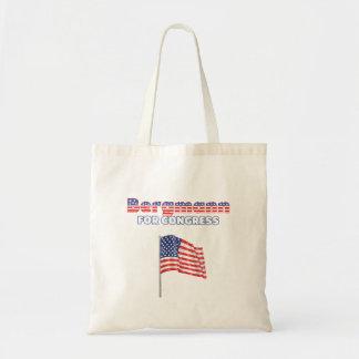 議会の愛国心が強い米国旗のためのBergmann トートバッグ