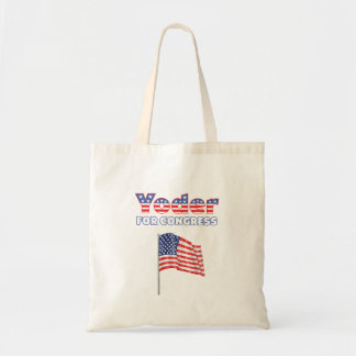議会の愛国心が強い米国旗のためのYoder トートバッグ