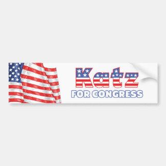 議会の愛国心が強い米国旗のデザインのためのKatz バンパーステッカー