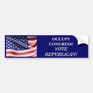 議会の投票共和党員を占めて下さい バンパーステッカー