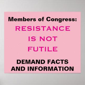 議会の抵抗は役に立たなくない事実の抗議ではないです ポスター