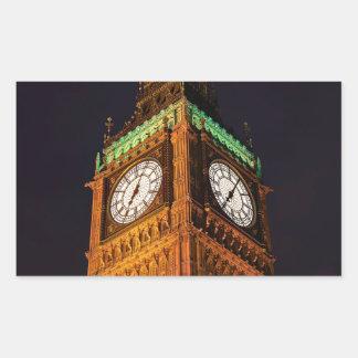 議会の時計台、ウエストミンスターの家 長方形シール