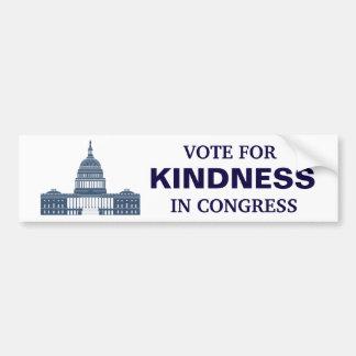 議会の親切さのための投票 バンパーステッカー