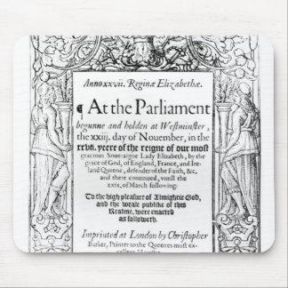 議会の記述へのFrontispiece マウスパッド