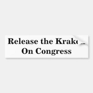 議会のKrakenを解放して下さい バンパーステッカー