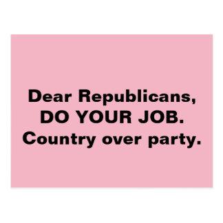 議会はパーティーのピンク上のあなたの仕事の国をします ポストカード