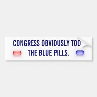 議会は明らかに青い丸薬を取りました バンパーステッカー