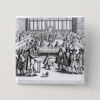 議会を分解しているオリバー・クロムウェル 5.1CM 正方形バッジ